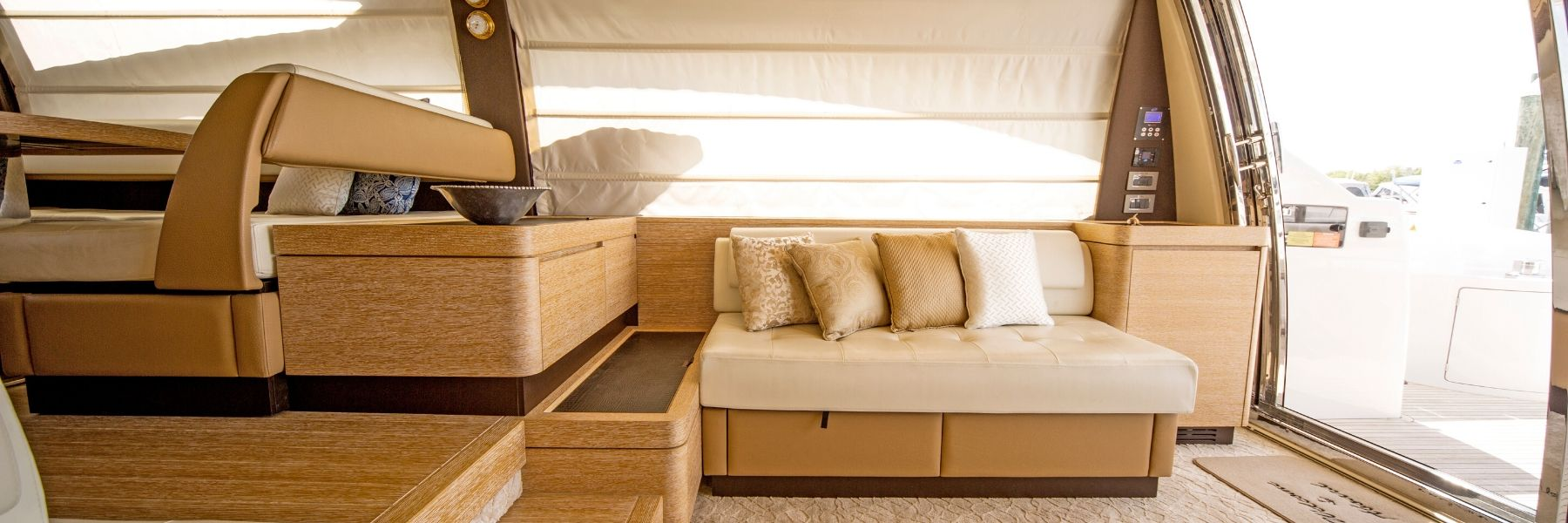 interior of yacht